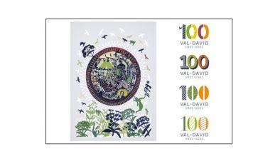 Dévoilement de l'œuvre de l'artiste René Derouin et  de la signature du Centenaire 2021 de Val-David