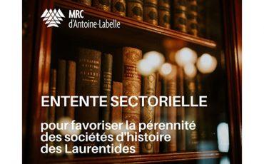 Investissement pour favoriser la pérennité les sociétés d'histoire des Laurentides