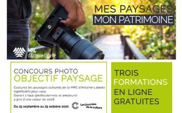 MRC d'Antoine-Labelle organise un concours et des formations dans le cadre des Journées de la culture