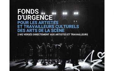Fonds d'urgence pour les artistes et travailleurs culturels des arts de la scène