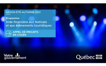 Aide financière aux festivals et aux événements touristiques/Appel à projets/Limite 1er février