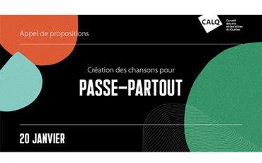 Appel de propositions – Création des chansons pour Passe-Partout/Limite 20 janvier