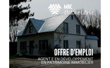 Emploi : Chargé.e de projet | Agent.e en développement en patrimoine immobilier/Limite 29 janvier
