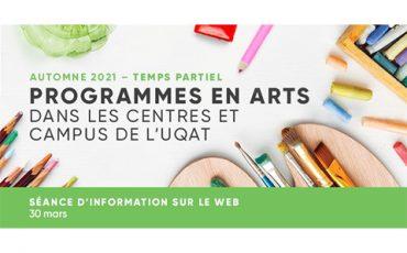 Séance d'information – Programmes en arts offerts à l'UQAT