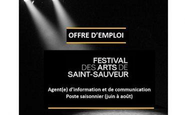 Le Festival des Arts de Saint-Sauveur recrute/Limite 10 mai