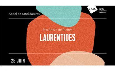 Appel de candidatures/Prix Artiste de l'année dans les Laurentides/Limite 25 juin