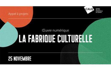 Appel à projets pour la création d'œuvres numériques pour La Fabrique culturelle/Limite 25 novembre
